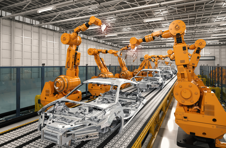 New study finds increasing use of robots in industrial production.
