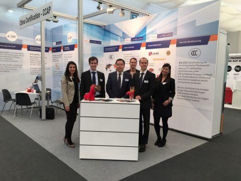 Gemeinsamer Auftritt der CCAP und MPR China Certification GmbH auf der IZB 2016