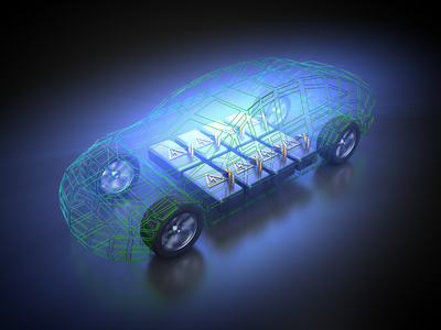 Akku eines Elektroautos